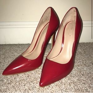 Aldo Red Leather Pumps